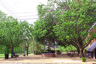 Kremser Plaza, a small contemplation park in dowtown Clarksdale Arts & Culture District