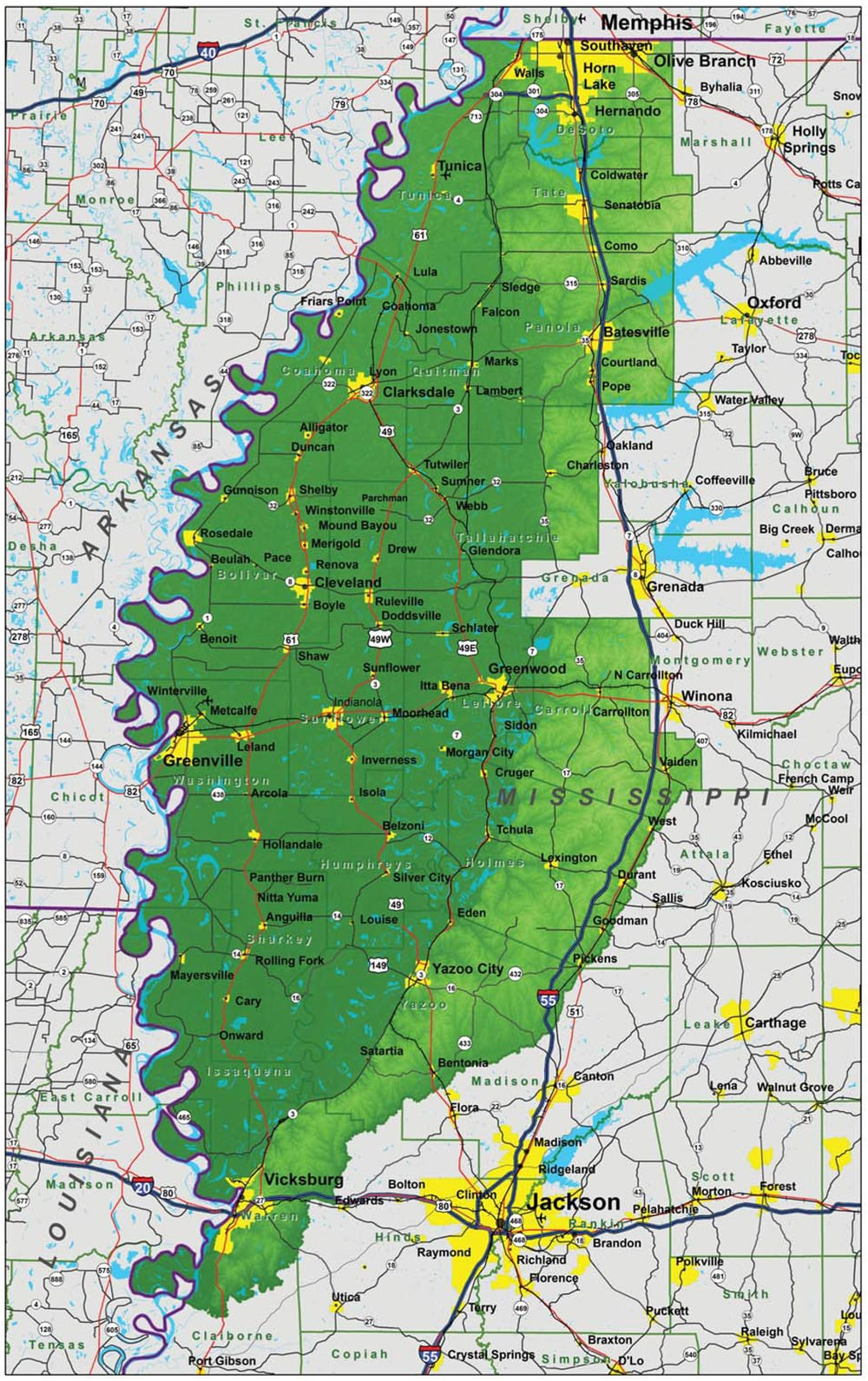 Mississippi Delta Map MSDelta.map.1   City of Clarksdale | Official Site