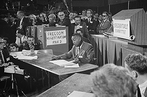 Aaron Henry at the 1964 Democratic National Convention.