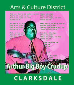 "Bluesman, gospel singer and songwriter, Arthur ""Big Boy"" Crudup."