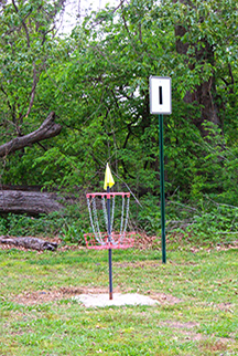 Clarksdale's disc golf course starts at Soldiers Field.