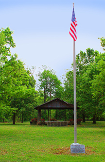 The Veterans Memorial Flag at Soldiers Field, Clarksdale, Mississippi