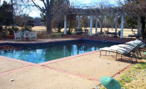 A winter day in the backyard of the Clarksdale home pictured above.