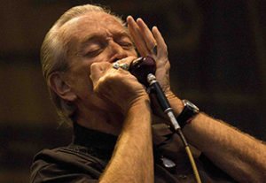 Charlie Musselwhite ofen plays in Clarksdale.