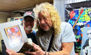 Hambone Gallery owner Stan Street with Led Zeppelin's Robert Plant at his store in Clarksdale.