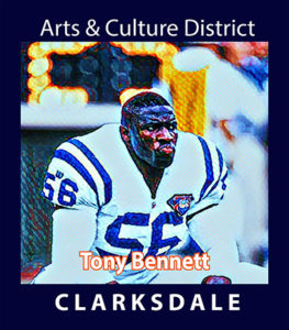 Professional football linebacker, Tony Bennett.