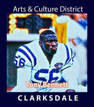 Professional football linebacker, Tony Bennett.