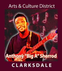"Current Clarksdale blues master and showman, Anthony ""Big A"" Sherrod."
