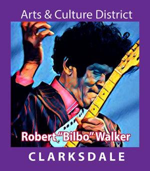 """Clarksdale bluesman, Robert """"Bilbo"""" Walker."""