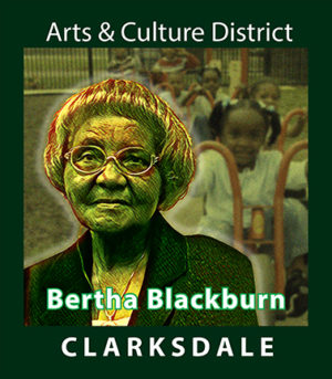 Clarksdale social and civic leader, Bertha Blackburn.