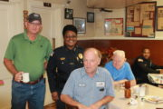 "Clarksdale Police Chief Sandra Williams meets with the public at the ""Coffee with a Cop"" community event."